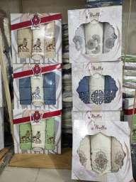 Подарункові набори махрових рушників Трійка