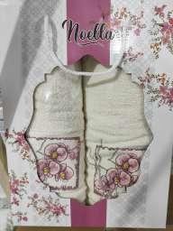 Набір махрових рушників Noella молочні