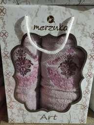 Набір рушників у коробці Merzuka, рожеві.